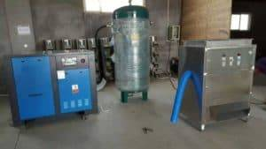 300kgh-garlic-peeling-machine-for-egypt-customer-with-air-compressor-and-storage-tank