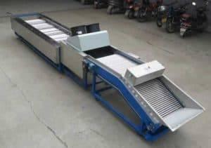 Máquina automática de seleção de alho com função de limpeza da escova