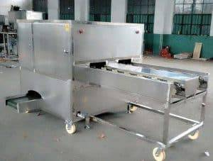 Four-Belt-Automatic-Garlic-Root-Concave-Cutting-Machine-for-Sale
