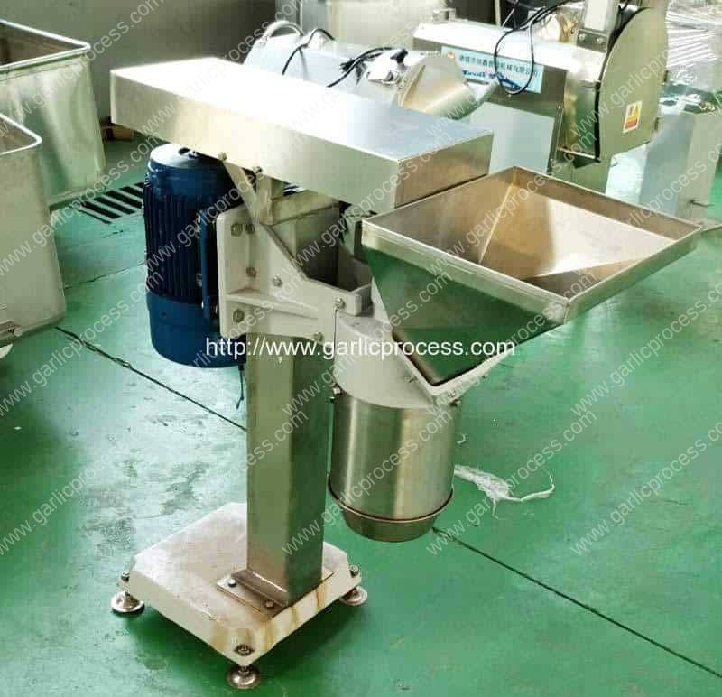 Automatic Garlic Paste Cutting Making Machine for India Customer