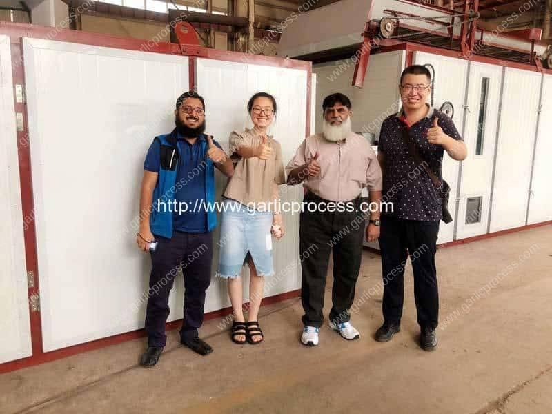 Pakistan-Customer-Visit-Romiter-Dehydrated-Garlic-Slice-Production-Line