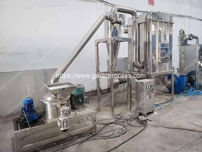 Full-Automatic-Continuous-Working-Garlic-Powder-Crushing-Making-Machine-with-Dust-Collector