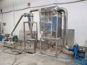 Full-Automatic-Garlic-Powder-Crushing-Making-Machine-with-Dust-Collector