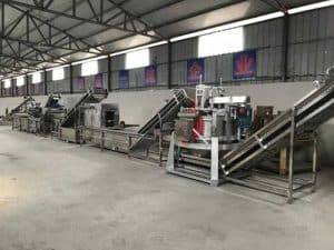 Full Automatic Wet Type Dehydrated Garlic Slice Production Line