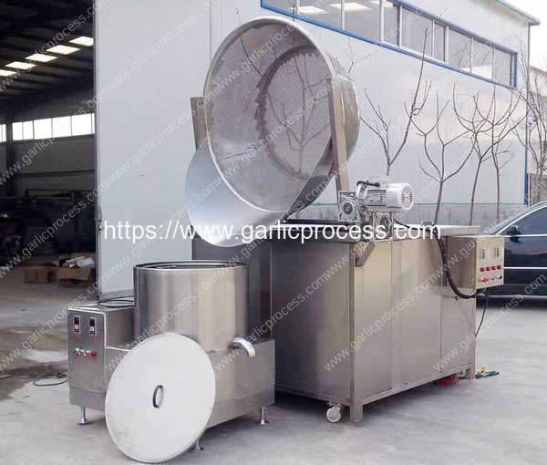 Auto-Discharge Type Garlic Frying Machine