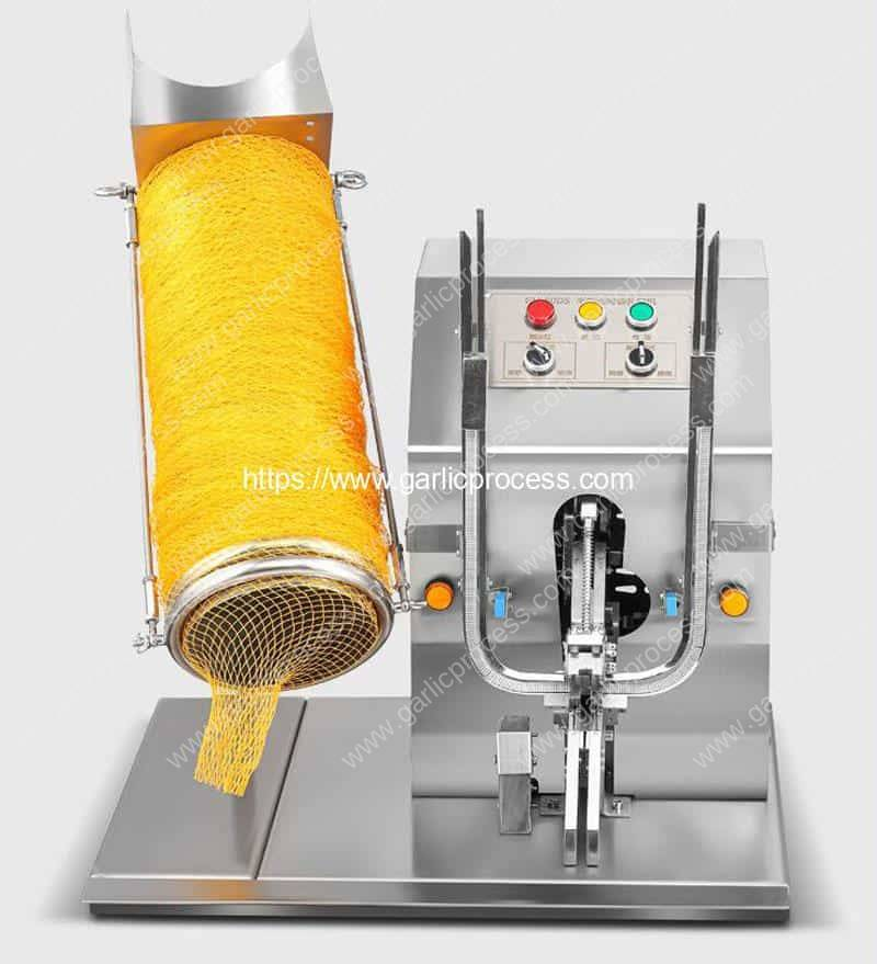 Electric-Mesh-Bag-Clipping-Machine-with-Mesh-Bag-Load-Tube