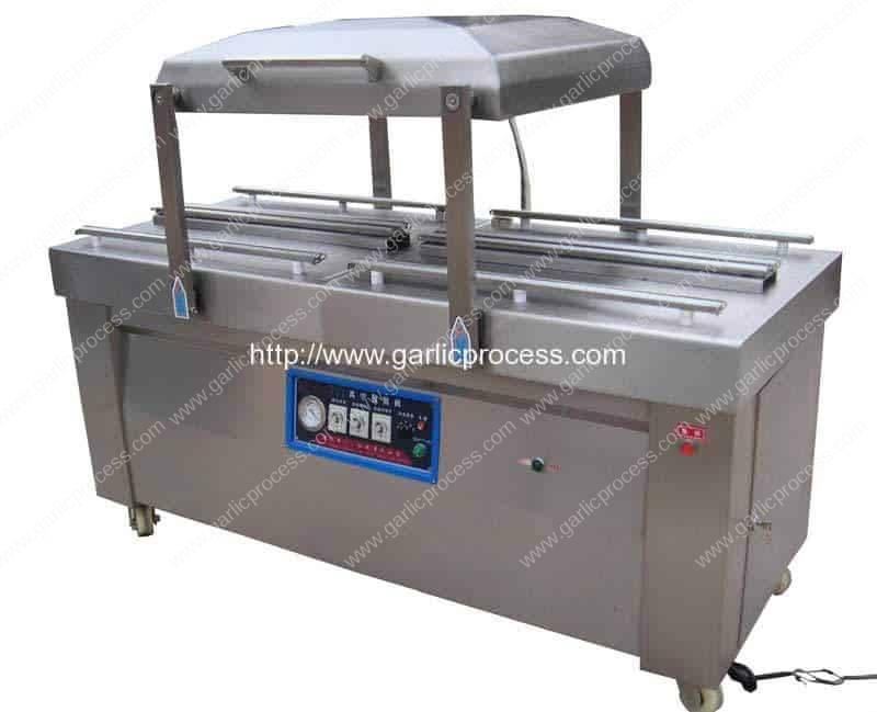 Double-Chamber-Vacuum-Garlic-Packing-Machine