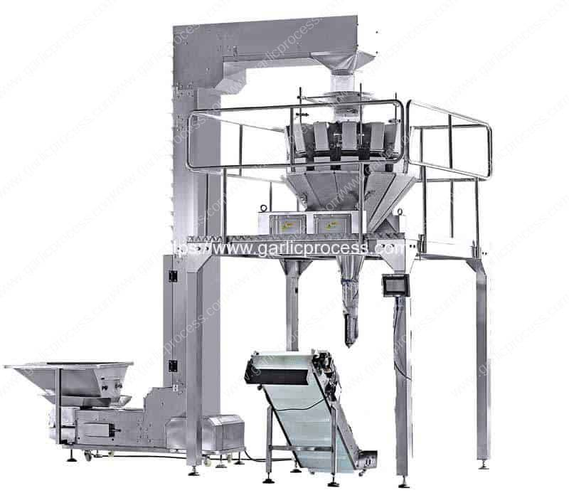 Full-Automatic-Garlic-Clove-Weighting-Scaling-Bottle-Filling-Machine