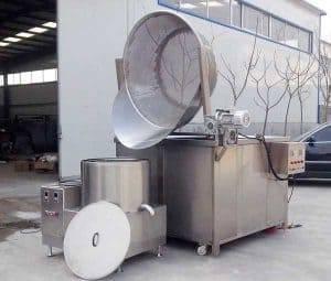 Auto-Discharge-Type-Crispy-Garlic-Frying-Machine